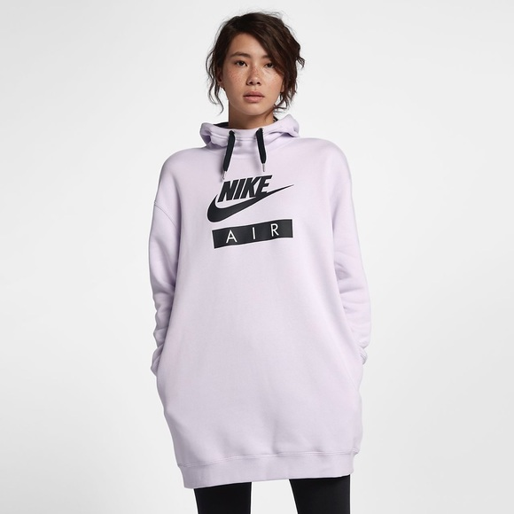 294207f4206 Nike Air Women s Extended Hoodie Barely Grape XXL